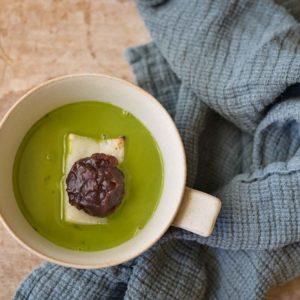 抹茶とホワイトチョコレートのおしるこ